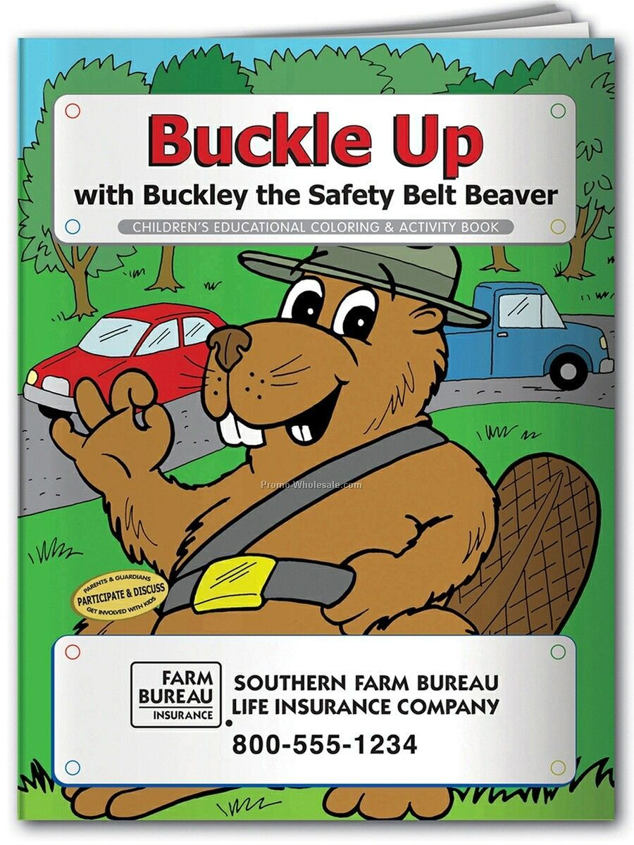 Pillowline Buckle Up Coloring Book