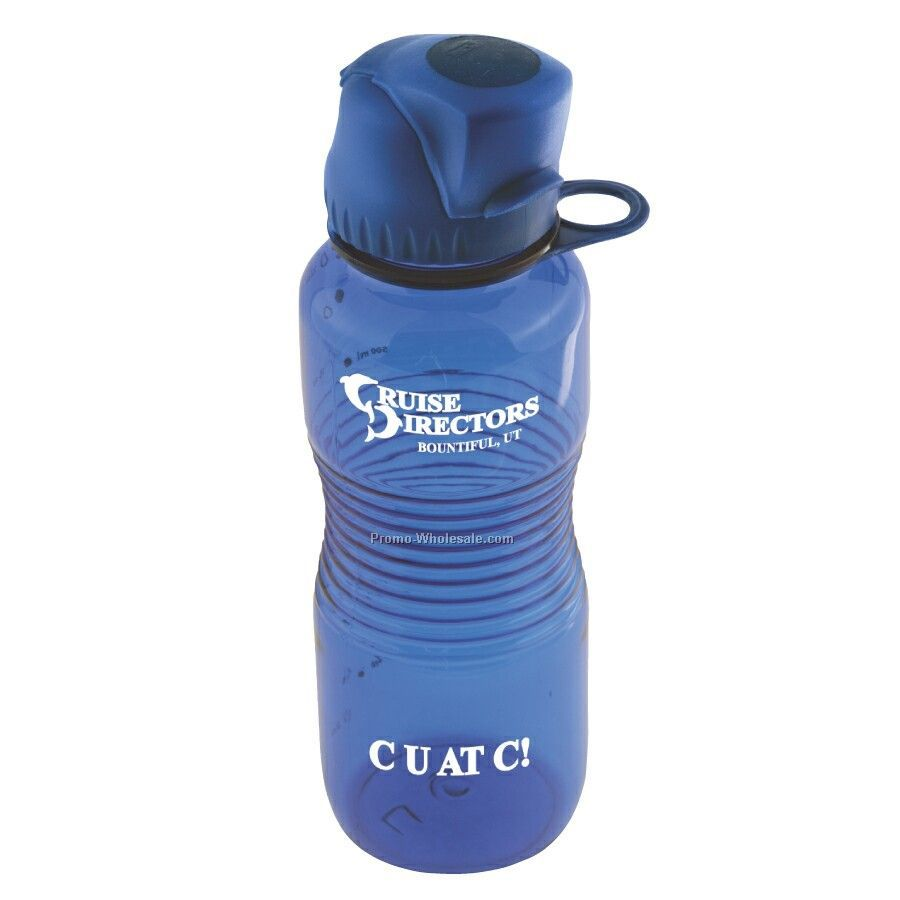 Poly Carbonate 22 Oz. Bottle With Locking Flip Top Lid