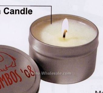 Small Round Seamless Tin Candle - Standard Service