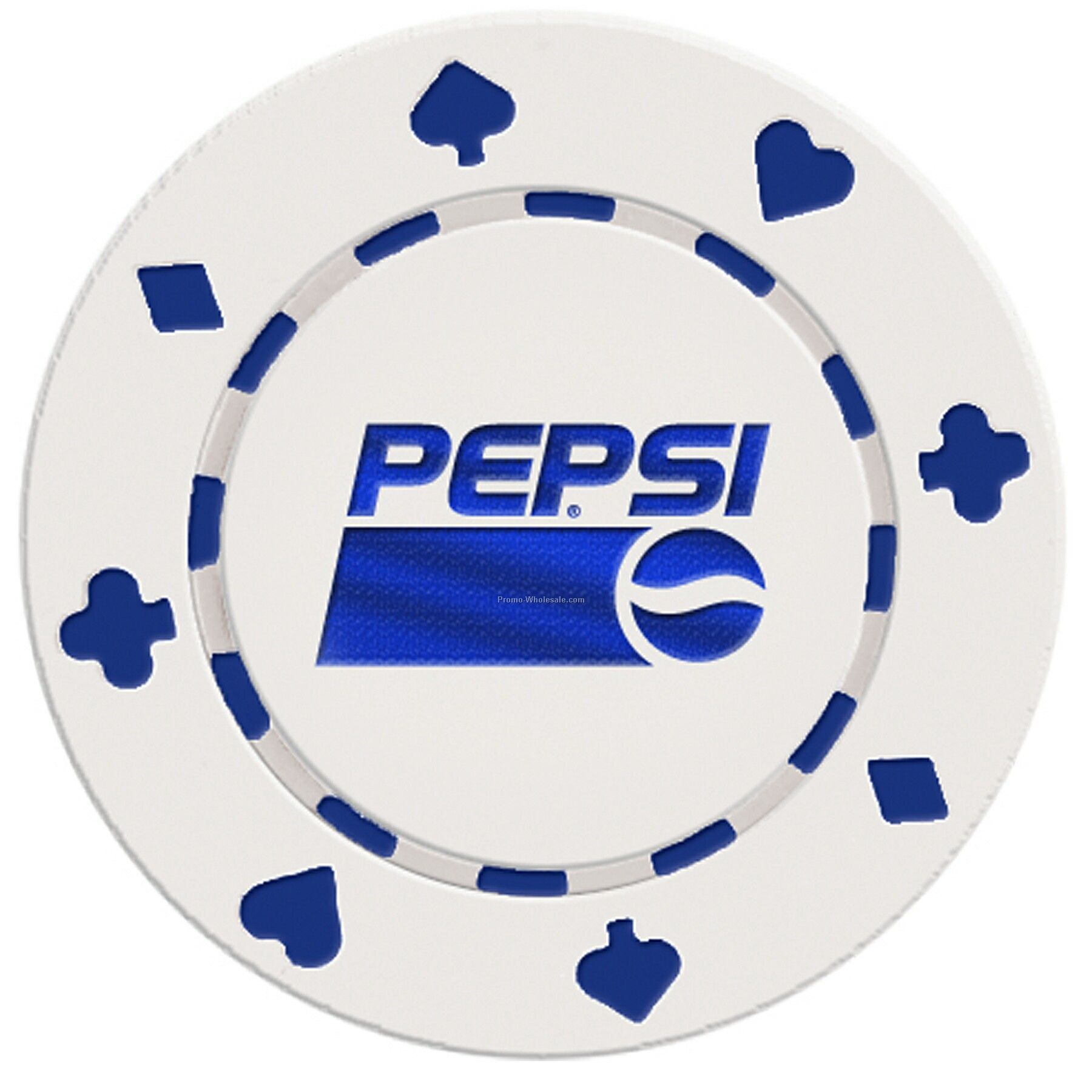 Suited Style Poker Chip Business Card - 2 Side Imprint