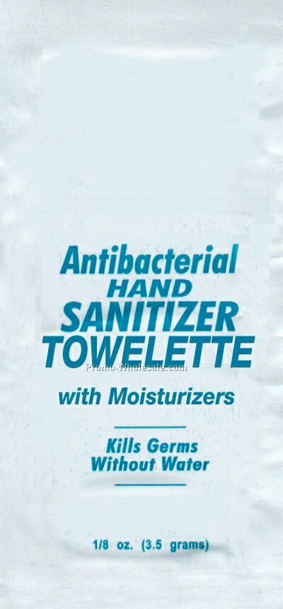 Towelette With Anti-bacterial Hand Sanitizer Gel