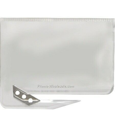 translucent clear business card letter opener rush