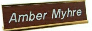 """Wall Name Plate W/ Insert - 3""""x12""""x1/16"""""""