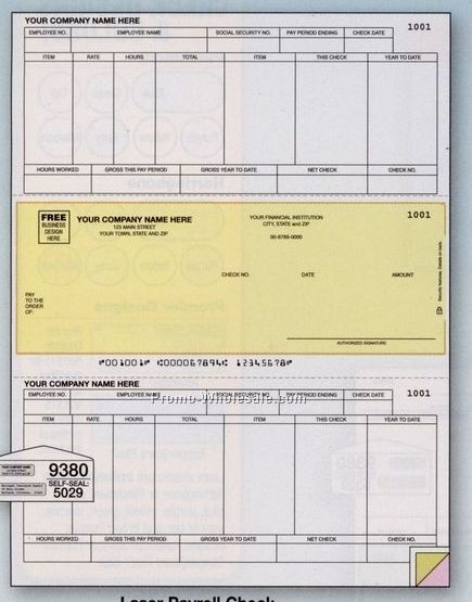 Doc.#600600: Free Payroll Stub Template – Download A Free Pay Stub