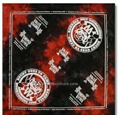 "100% Cotton Tie-dye Bandanna - 22""x22"" (Screen Printed)"