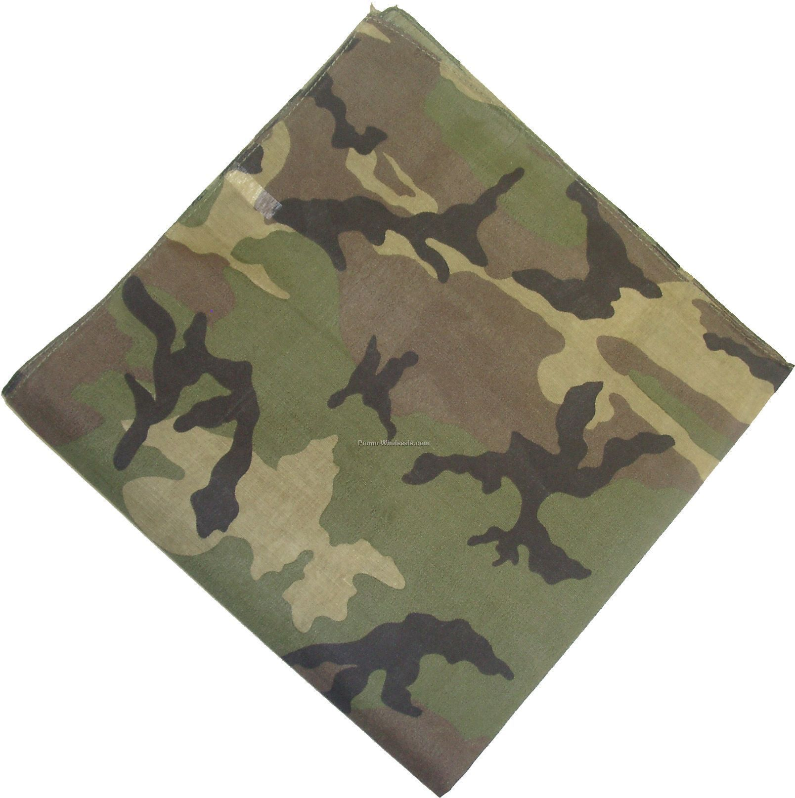 100% Cotton Woodland Camouflage Bandanna