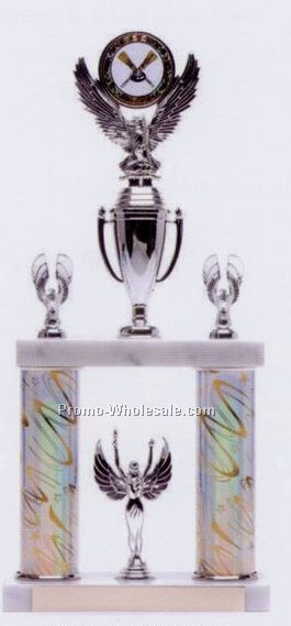"16-1/2"" Two Tier Trophy W/ Insert Holder"