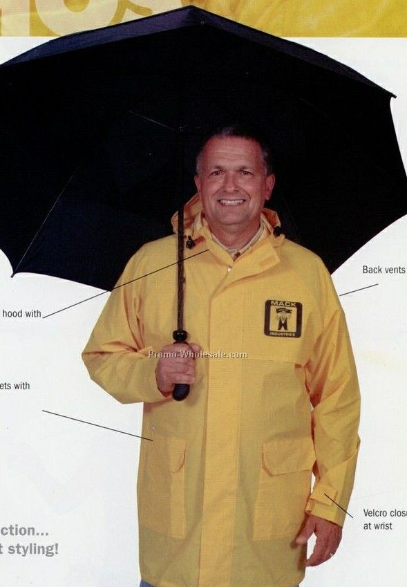 18 Mm Pvc Rain Jacket (S-xl)