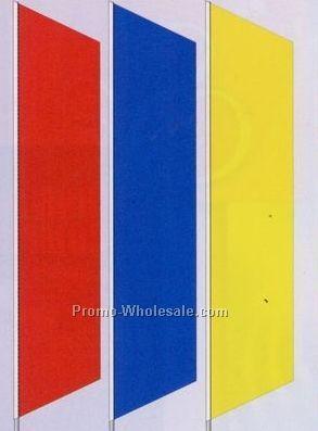 2-1/2x12 Stock Zephyr Banner Drapes - Orange