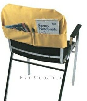 "20""x11-1/2"" Fitted Chair Back Cover W/Back Pockets / Twill (Printed)"