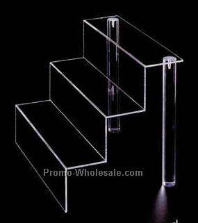 "Acrylic Mini Stairway Display (12""x2""x6-3/4"")"