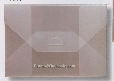 """Clear Or Sheer Frosted Polyester Tuck Envelope (6-1/4""""x4-1/4""""x1/4"""")"""