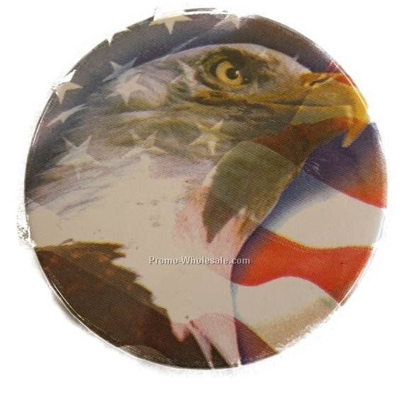"Custom Printed Button - 3"" Diameter With Magnet Back"