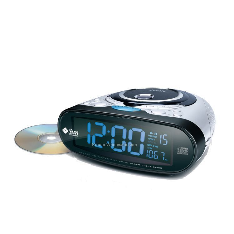 dual alarm stereo cd player w am fm clock radio wholesale china. Black Bedroom Furniture Sets. Home Design Ideas
