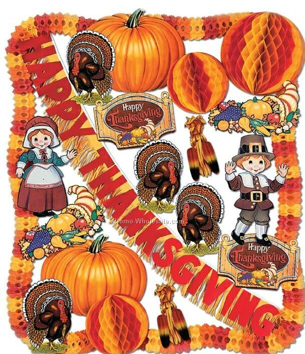 Flame resistant thanksgiving decorating kit wholesale china
