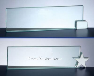 Glass Name Plates With Holders