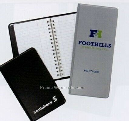 Large Swade Vinyl Wirebound Tally Book
