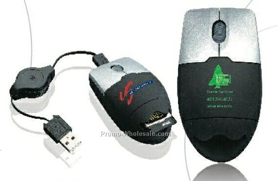 Optical Mouse With Card Reader