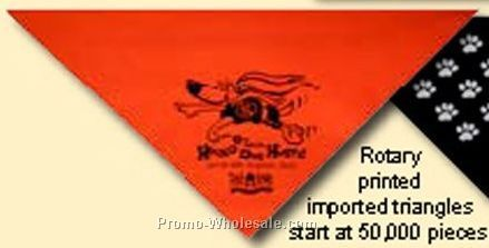 Rotary Printed Large Triangle 100% Cotton Import Bandanna