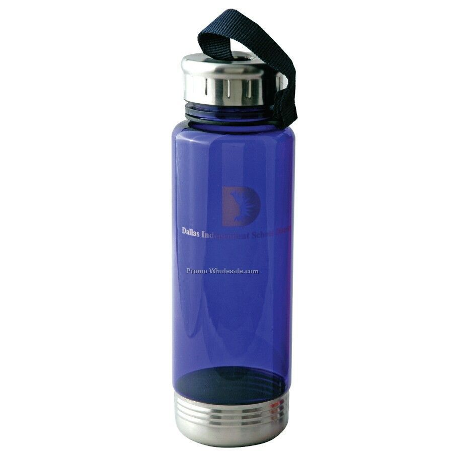 Shatter Proof Petg 22 Oz. Bottle With Stainless Steel Trim