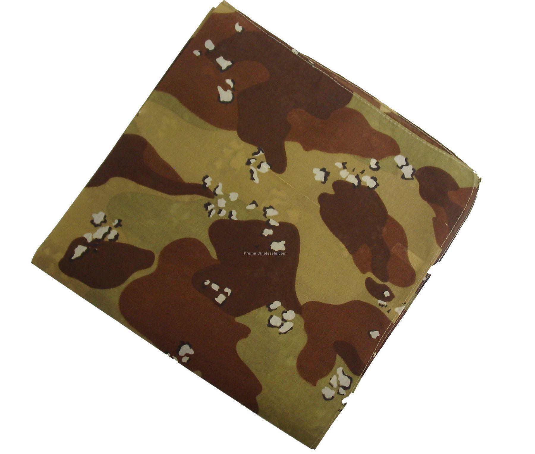 100% Cotton Desert Camouflage Bandanna
