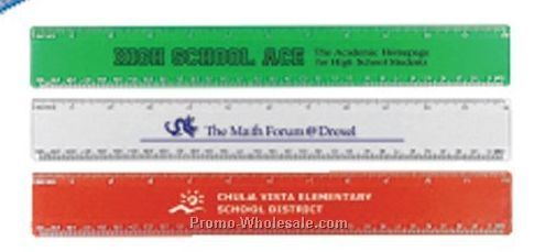 "12"" Beveled Plastic Ruler - Standard Delivery"