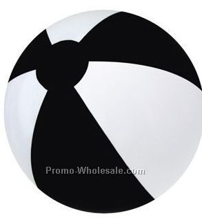 "16"" Inflatable Two Tone Alternating Color Beach Ball - Black & White"