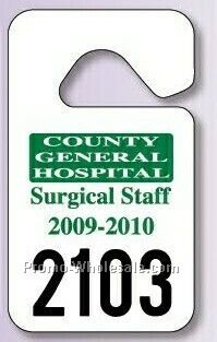 "3-3/8""x9"" Giant Hang Tag Parking Permit (.015"" Polyethylene)"