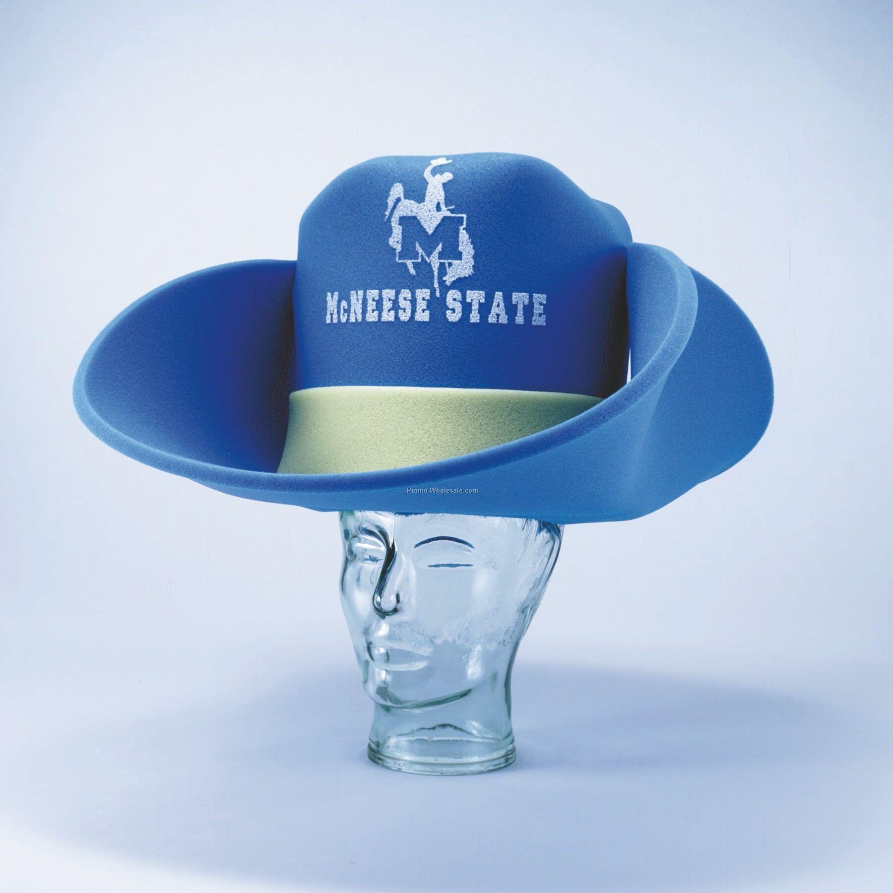 3644ecc9 50 Gallon Foam Cowboy Hat W/ Custom Print