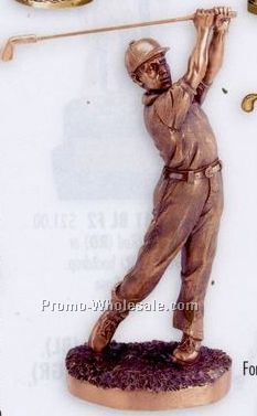 "8"" To 11-1/2"" Baseball Electroplated Metal Clad Figure Casting"