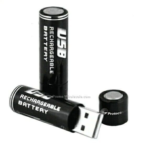 "9/16""x2"" Rechargeable USB Batteries Two"