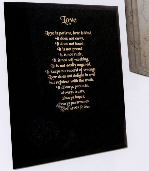 "9""x12""x3/8"" Black Granite Award - Large"