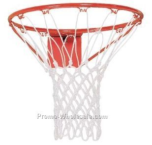 Anti-whip Heavy White Nylon Basketball Net