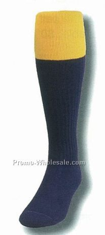 Colored Fold Over Top Soccer Tube Sock (10-13 Large)