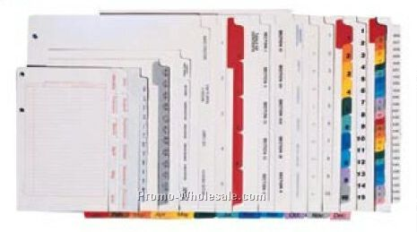 Custom Index Tab Dividers - 12 Sets