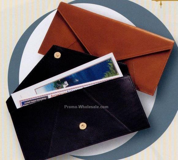 Florentine Napa Leather Document Envelope