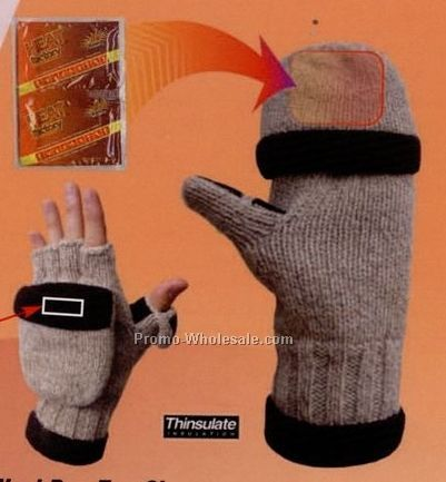 Heat Factory Ragg Wool Pop Top Glove