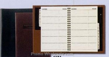 Large Executive Desk Book/ Soft Construction W/ Address Book