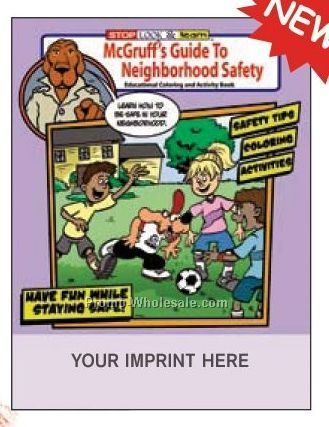 Mcgruff's Guide To Neighborhood Safety Coloring Book Fun Pack