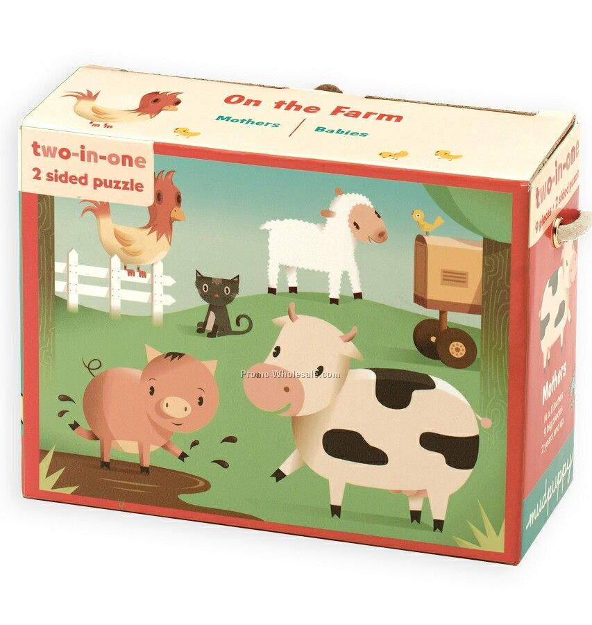 On The Farm 2-in-1 Puzzle