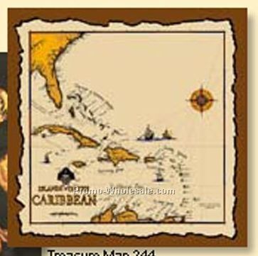 "Pirate Treasure Map Bandanna - 22""x22"" (Screen Print)"