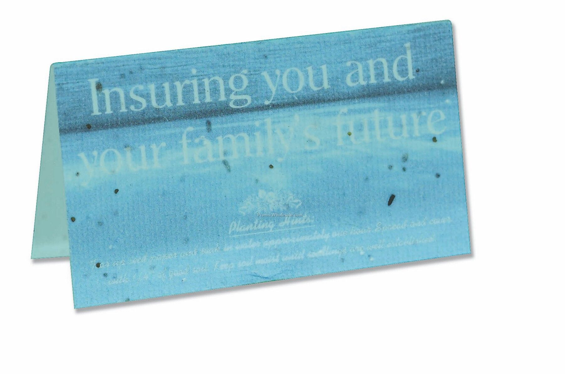 Printed business card tent on seeded paperwholesale china for Tent business cards