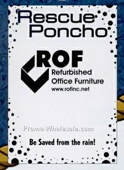Rescue Poncho Rain Gear-dots Border