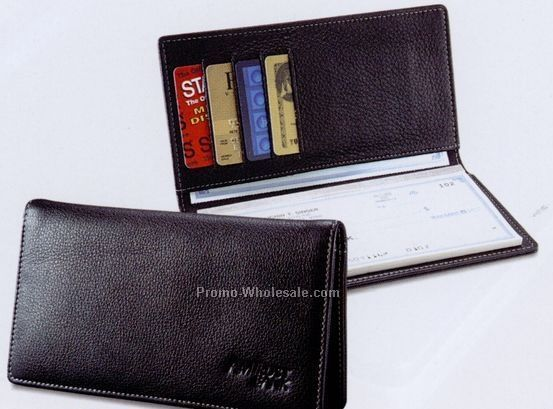 leather checkbook cover. (Signature Leather Checkbook