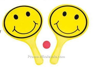 Smiley Face Paddle Ball Set