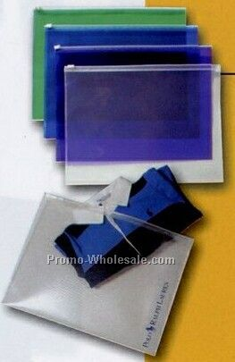Translucent Poly Zip Envelope (Imprinted)
