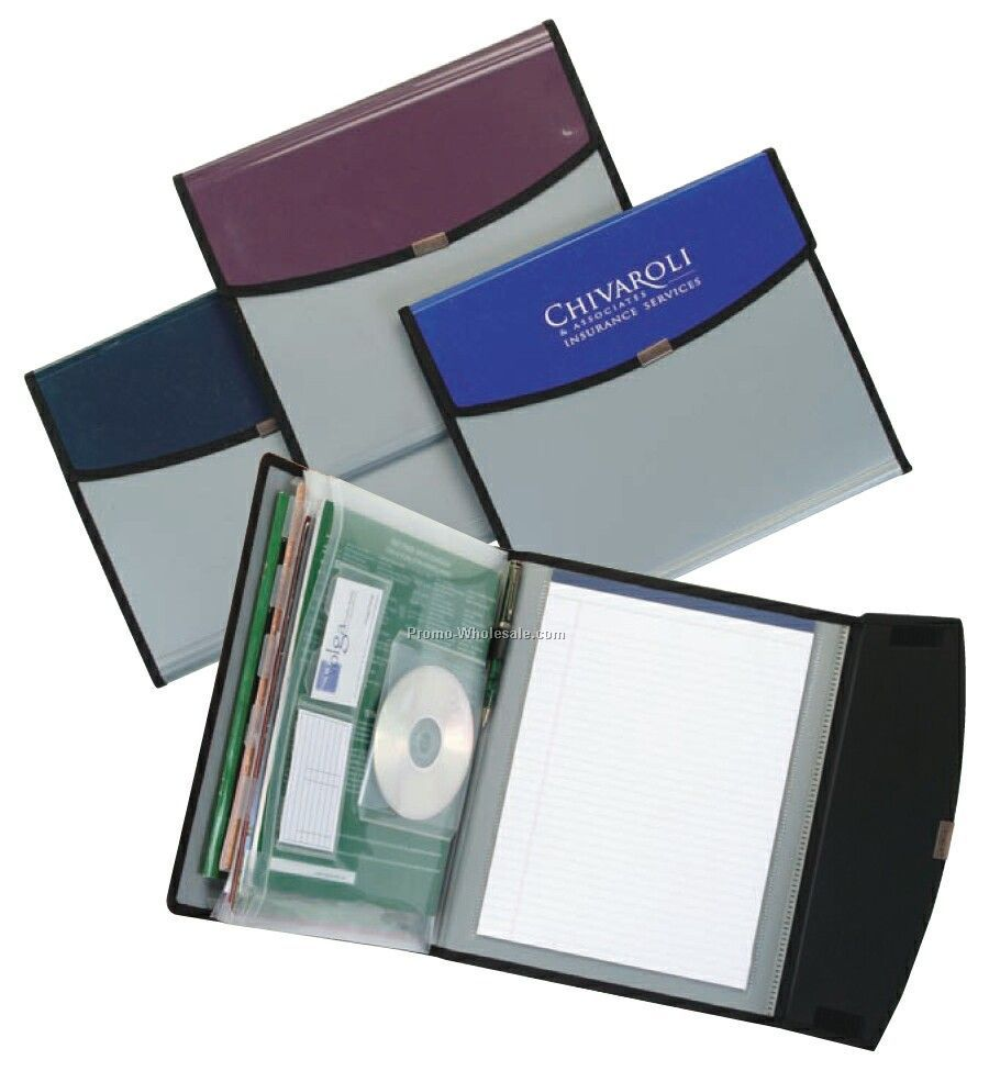 Two-tone Expanding File Portfolio (6 Pocket)