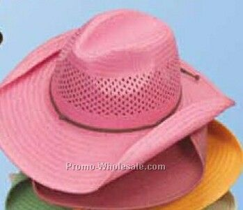 Western Toyo Straw U-shape-it Hat With Bent Brim Sides (One Size Fit Most)