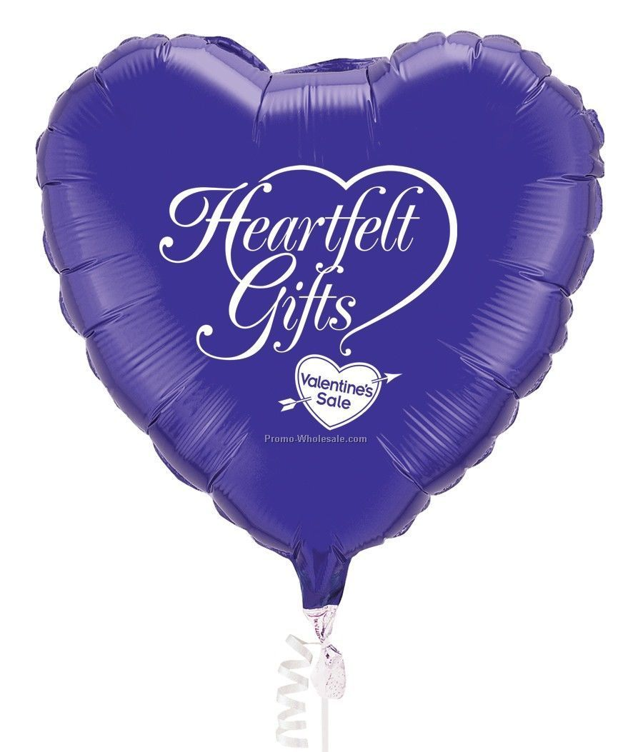 "18"" Heart Microfoil Balloons - (4 Color Imprint)"