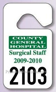 "2-3/4""x4-3/4"" Standard Hang Tag Parking Permit (.035"" Reflective)"